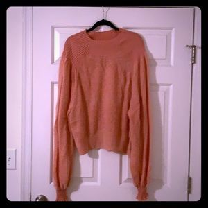 Free People Puffer Sleeved Sweater